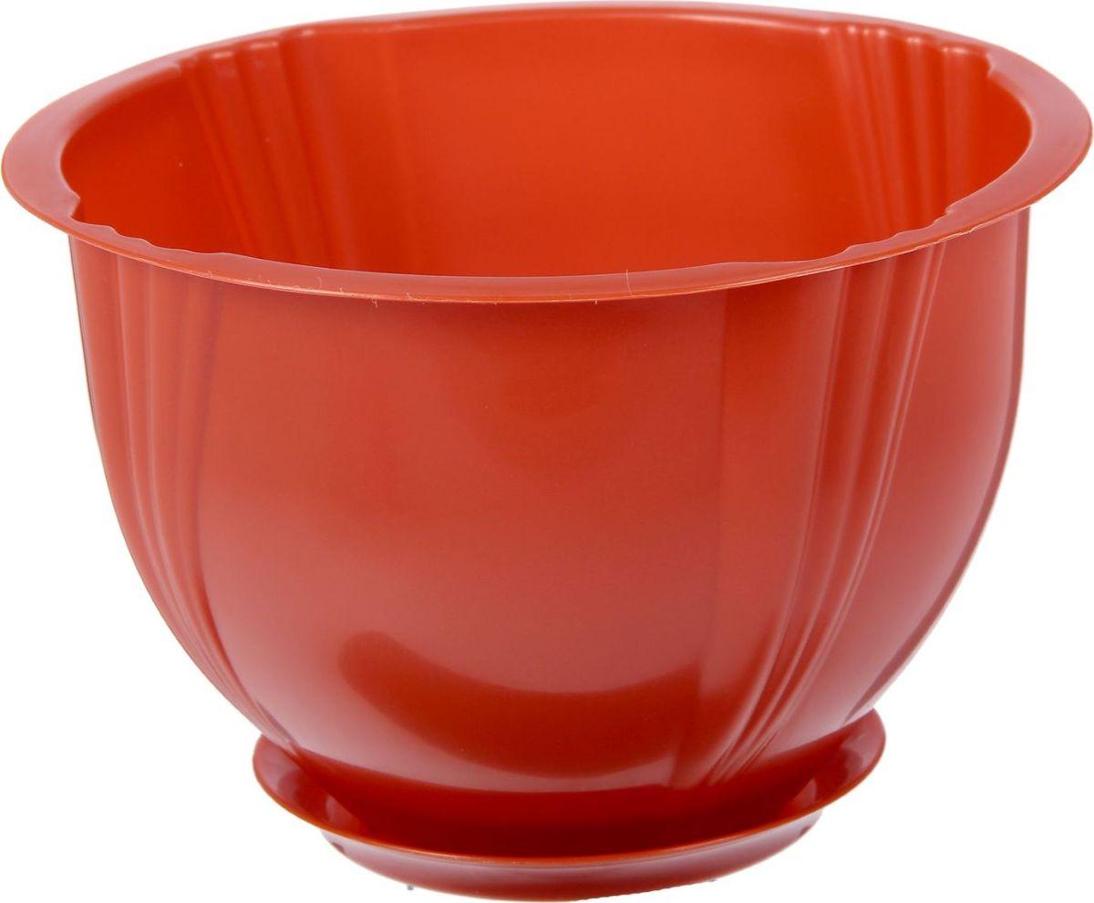 Кашпо Berossi Diana, с поддоном, цвет: терракотовый, 1 л2305352Кашпо — это не просто ёмкость для выращивания комнатных растений, но и важный элемент декора.Посадите растение в Кашпо с поддоном 1 л Diana, цвет терракотовый! Его интересная форма дополнит интерьер, а качественный материал будет радовать вас долгие годы. Пластик полностью безопасен и не вступает в реакцию с почвой и корнями растения. Помимо этого, горшокЛёгкий, что делает удобной его транспортировку и эксплуатацию.Практичный: можно использовать для большинства комнатных растений. Цельный — вам не потребуются дпоолнительные приспособления и элементы.