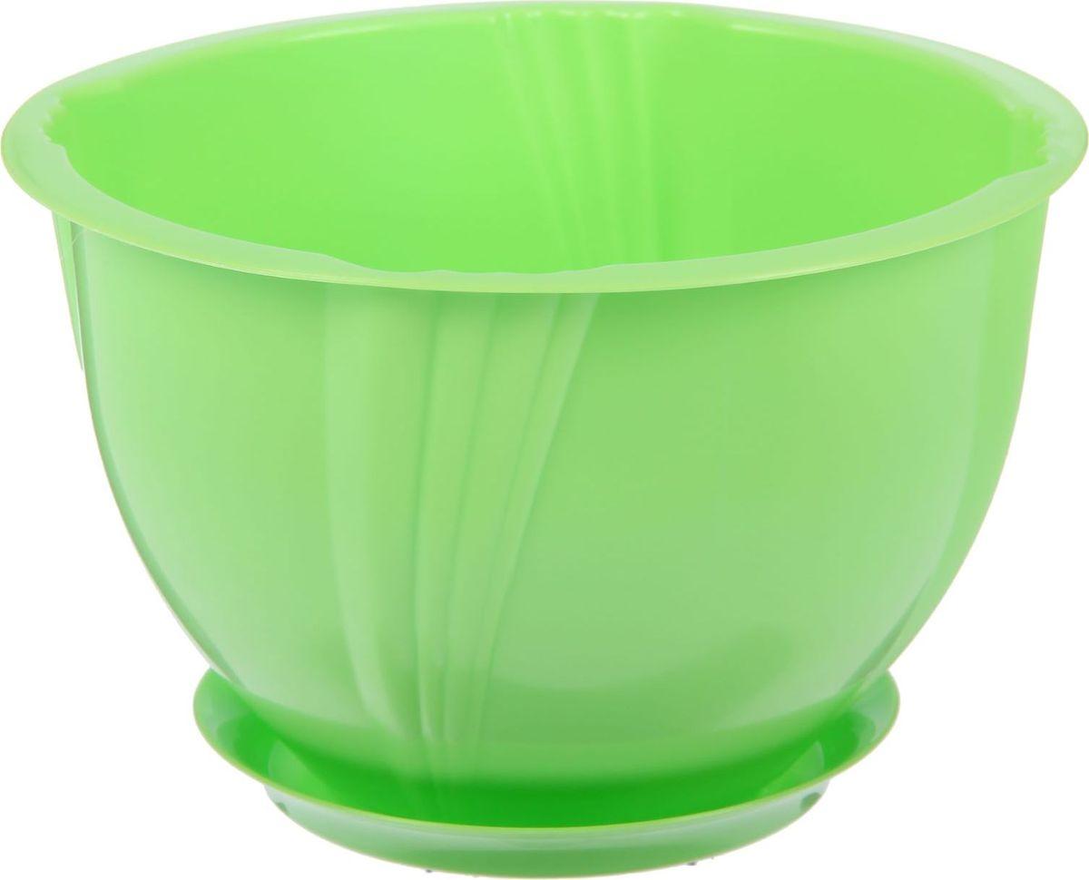 Кашпо Berossi Diana, с поддоном, цвет: зеленый, 1,8 л2305353Кашпо — это не просто ёмкость для выращивания комнатных растений, но и важный элемент декора.Посадите растение в Кашпо с поддоном 1,8 л Diana, цвет зеленый! Его интересная форма дополнит интерьер, а качественный материал будет радовать вас долгие годы. Пластик полностью безопасен и не вступает в реакцию с почвой и корнями растения. Помимо этого, горшокЛёгкий, что делает удобной его транспортировку и эксплуатацию.Практичный: можно использовать для большинства комнатных растений. Цельный — вам не потребуются дпоолнительные приспособления и элементы.