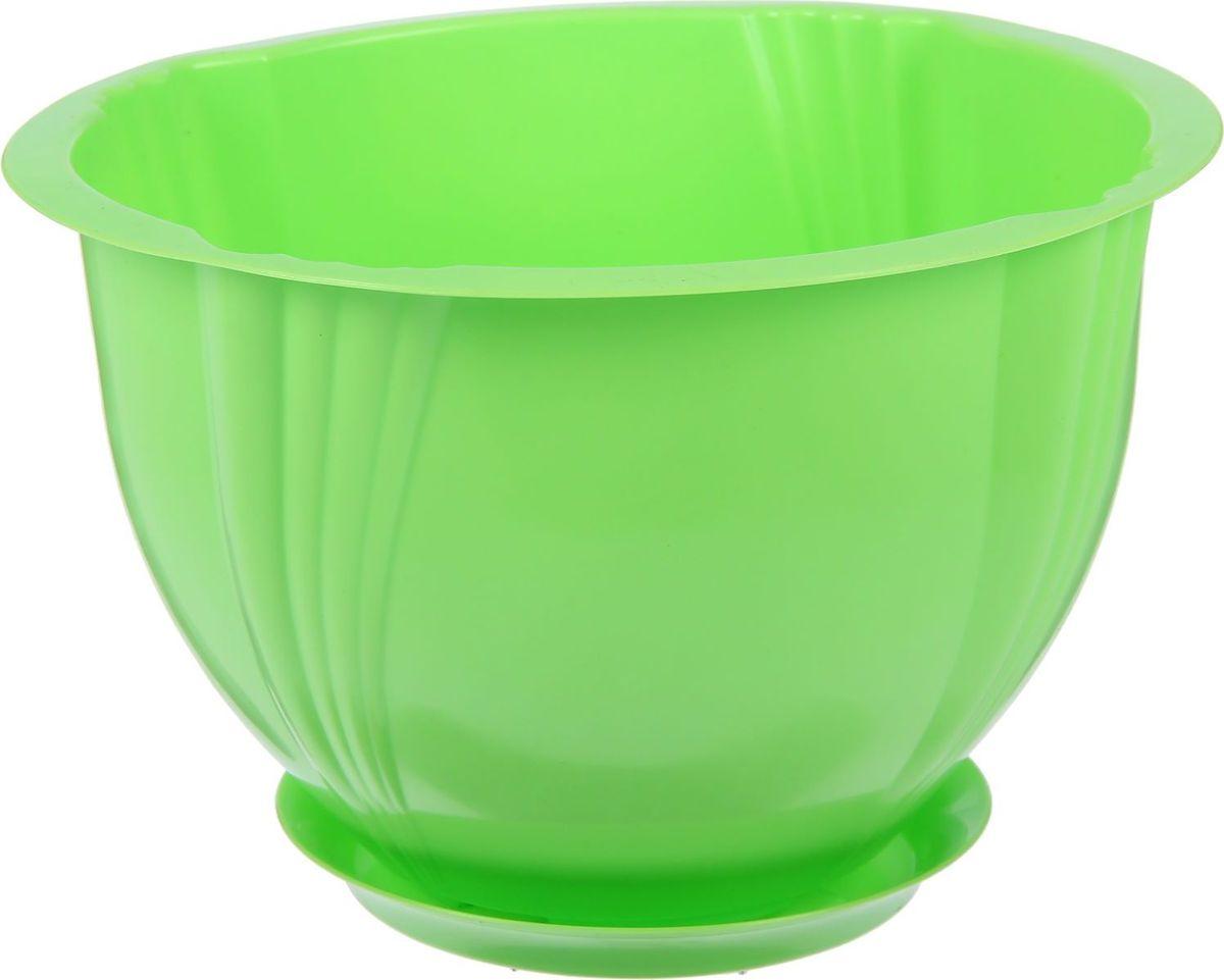Кашпо Berossi Diana, с поддоном, цвет: зеленый, 3,6 л2305359Кашпо — это не просто ёмкость для выращивания комнатных растений, но и важный элемент декора.Посадите растение в Кашпо с поддоном 3,6 л Diana, цвет зеленый! Его интересная форма дополнит интерьер, а качественный материал будет радовать вас долгие годы. Пластик полностью безопасен и не вступает в реакцию с почвой и корнями растения. Помимо этого, горшокЛёгкий, что делает удобной его транспортировку и эксплуатацию.Практичный: можно использовать для большинства комнатных растений. Цельный — вам не потребуются дпоолнительные приспособления и элементы.