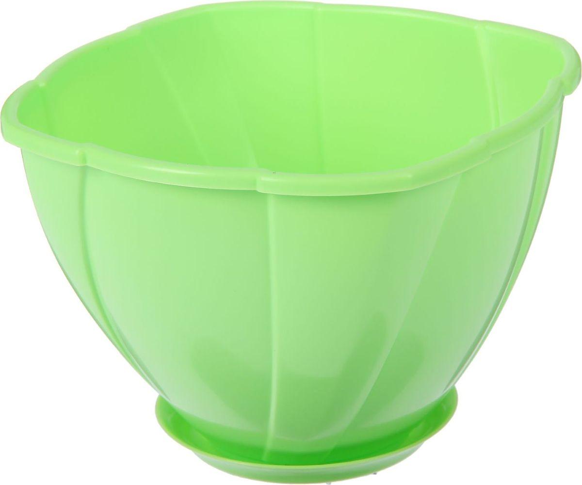 Кашпо Berossi Gloria, с поддоном, цвет: зеленый, 1,5 л2305369Кашпо — это не просто ёмкость для выращивания комнатных растений, но и важный элемент декора.Посадите растение в Кашпо с поддоном 1,5 л Gloria, цвет зеленый! Его интересная форма дополнит интерьер, а качественный материал будет радовать вас долгие годы. Пластик полностью безопасен и не вступает в реакцию с почвой и корнями растения. Помимо этого, горшокЛёгкий, что делает удобной его транспортировку и эксплуатацию.Практичный: можно использовать для большинства комнатных растений. Цельный — вам не потребуются дпоолнительные приспособления и элементы.