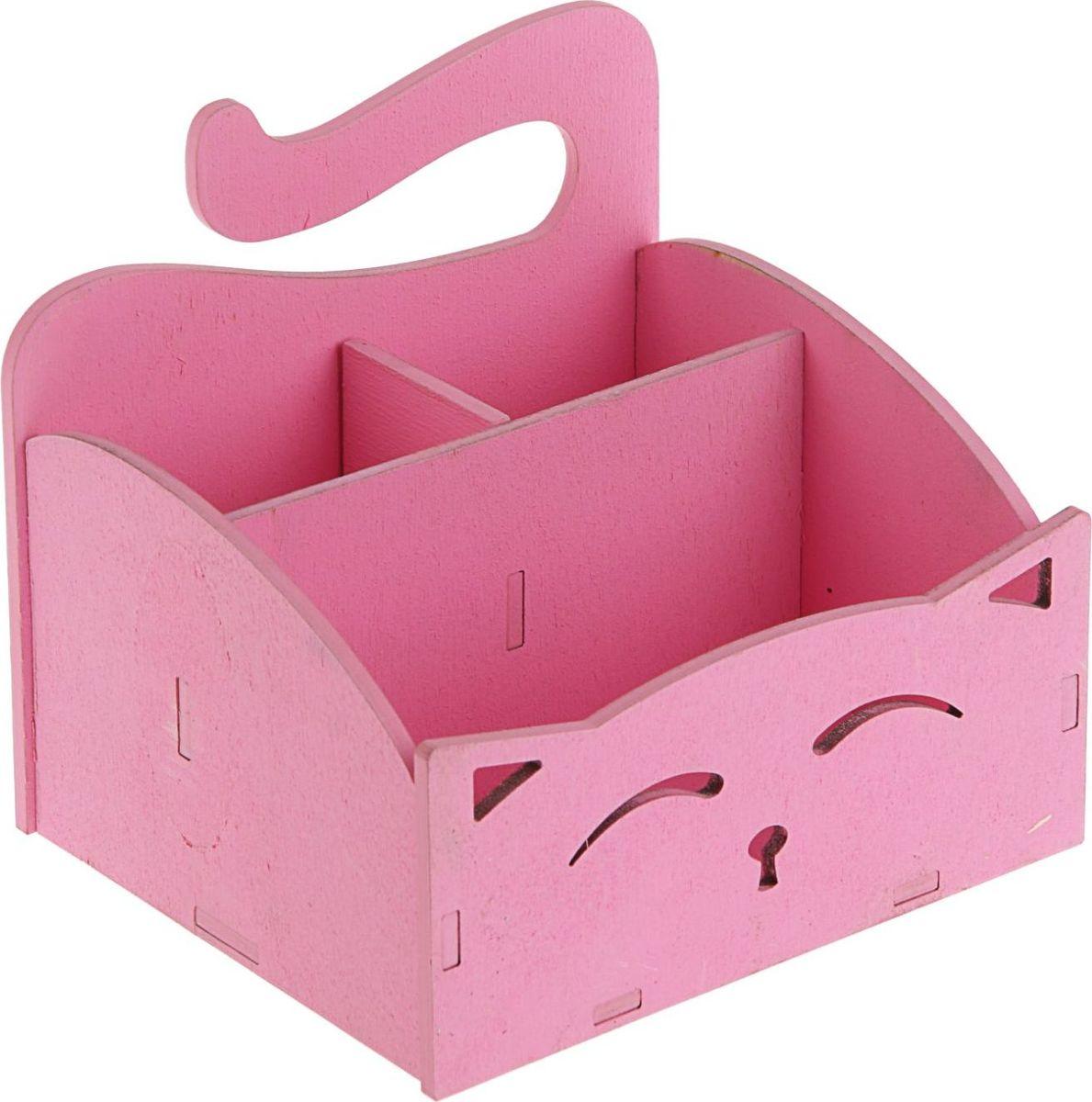 Кашпо ТД ДМ Ящик. Кошечка, цвет: розовый, 15,4 х 13 х 13,5 см144194Кашпо ТД ДМ Ящик. Кошечка имеет уникальную форму, сочетающуюся как с классическим, так и с современным дизайном интерьера. Оно изготовлено из дерева и предназначено для выращивания растений, цветов и трав в домашних условиях.Кашпо порадует вас функциональностью, а благодаря лаконичному дизайну впишется в любой интерьер помещения. Размеры кашпо: 15,4 х 13 х 13,5 см.
