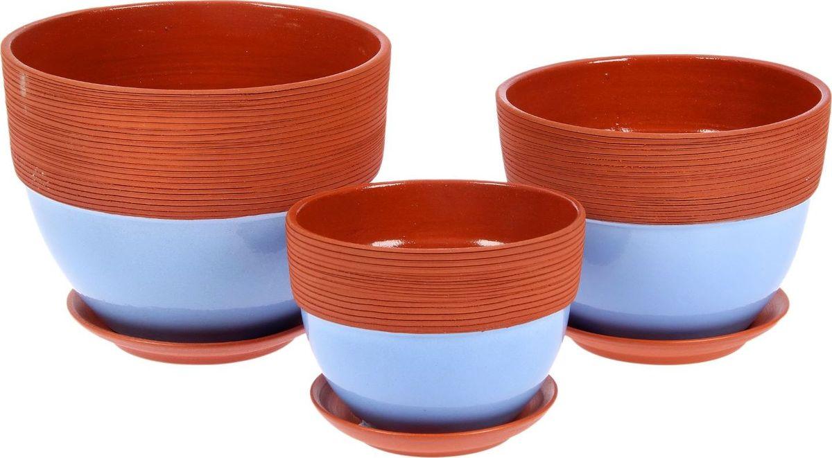 Набор кашпо Прованс, цвет: лавандовый, 21 х 21 х 16 см2310653Комнатные растения — всеобщие любимцы. Они радуют глаз, насыщают помещение кислородом и украшают пространство. Каждому из них необходим свой удобный и красивый дом. Кашпо из керамики прекрасно подходят для высадки растений: за счёт пластичности глины и разных способов обработки существует великое множество форм и дизайновпористый материал позволяет испаряться лишней влагевоздух, необходимый для дыхания корней, проникает сквозь керамические стенки! #name# позаботится о зелёном питомце, освежит интерьер и подчеркнёт его стиль.