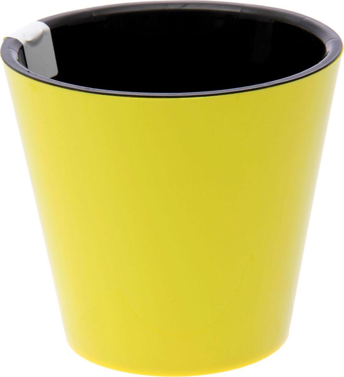Горшок для цветов Фиджи, цвет: желтый, 1,6 л2372092Любой, даже самый современный и продуманный интерьер будет незавершенным без растений. Они не только очищают воздух и насыщают его кислородом, но и украшают окружающее пространство. Такому полезному члену семьи просто необходим красивый и функциональный дом! Оптимальный выбор материала — пластмасса! Почему мы так считаем? Малый вес. С легкостью переносите горшки и кашпо с места на место, ставьте их на столики или полки, не беспокоясь о нагрузке. Простота ухода. Кашпо не нуждается в специальных условиях хранения. Его легко чистить — достаточно просто сполоснуть теплой водой. Никаких потертостей. Такие кашпо не царапают и не загрязняют поверхности, на которых стоят. Пластик дольше хранит влагу, а значит, растение реже нуждается в поливе. Пластмасса не пропускает воздух — корневой системе растения не грозят резкие перепады температур. Огромный выбор форм, декора и расцветок — вы без труда найдете что-то, что идеально впишется в уже существующий интерьер. Соблюдая нехитрые правила ухода, вы можете заметно продлить срок службы горшков и кашпо из пластика: всегда учитывайте размер кроны и корневой системы (при разрастании большое растение способно повредить маленький горшок) берегите изделие от воздействия прямых солнечных лучей, чтобы горшки не выцветали держите кашпо из пластика подальше от нагревающихся поверхностей. Создавайте прекрасные цветочные композиции, выращивайте рассаду или необычные растения.
