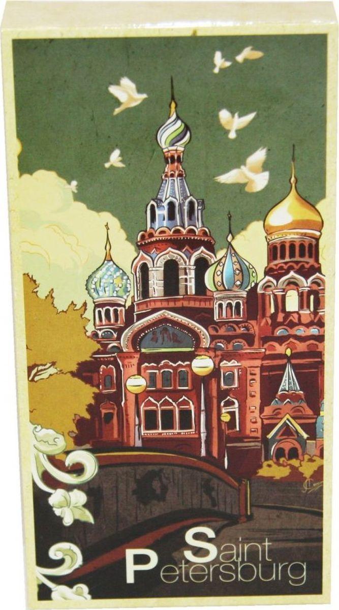 Petersburg Спас-на-Крови молочный шоколад (рисунок), 100 г4665270161774Это не просто плитка, это плитка в коробке с изображением лучших достопримечательностей любимого города! Подарите другу или оставьте себе на память. Внутри плитка молочного шоколада.
