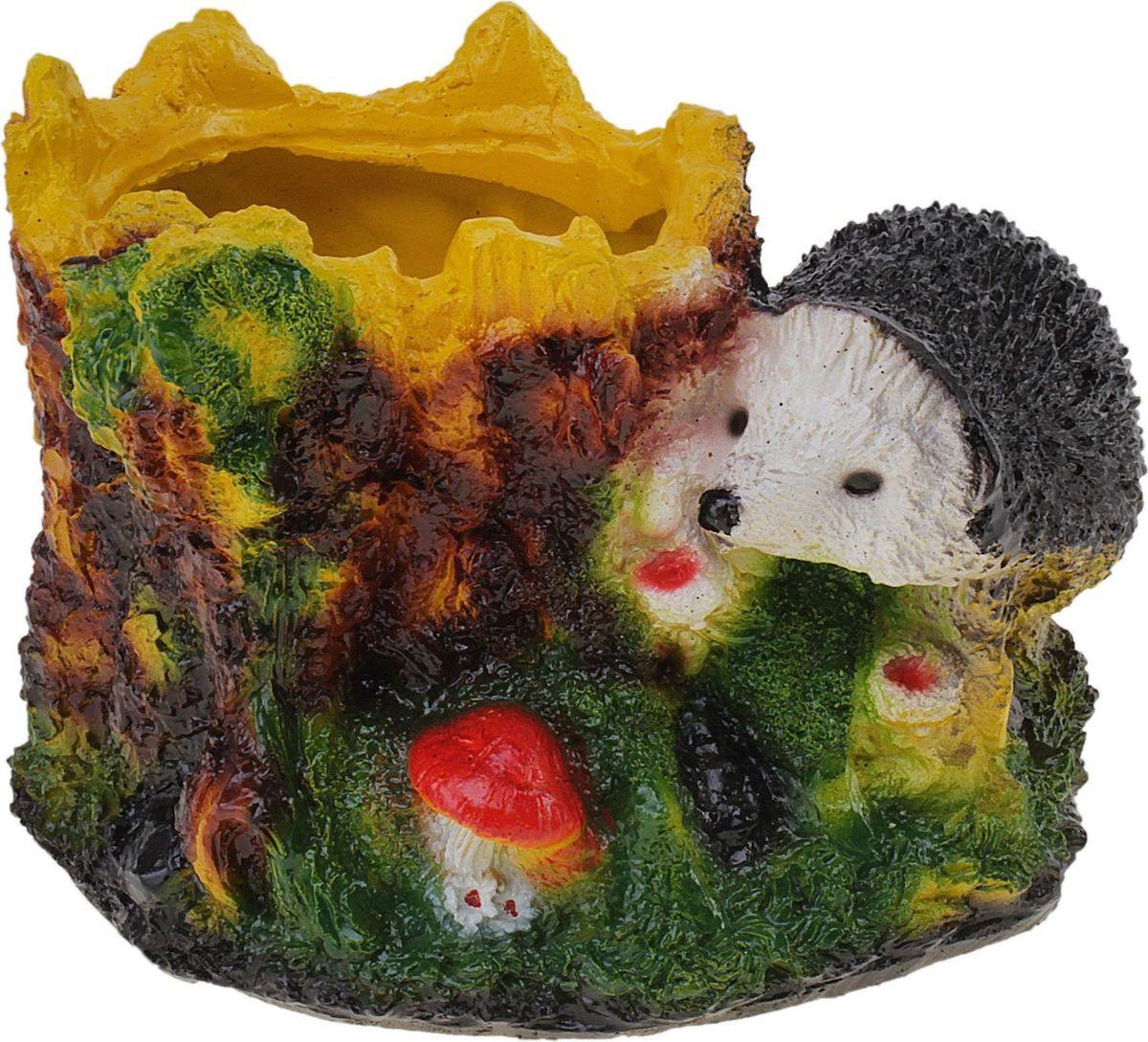 Кашпо Еж, 21 х 24 х 17 см628375Комнатные растения — всеобщие любимцы. Они радуют глаз, насыщают помещение кислородом и украшают пространство. Каждому из растений необходим свой удобный и красивый дом. Поселите зеленого питомца в яркое и оригинальное фигурное кашпо. Выберите подходящую форму для детской, спальни, гостиной, балкона, офиса или террасы. позаботится о растении, украсит окружающее пространство и подчеркнет его оригинальный стиль.