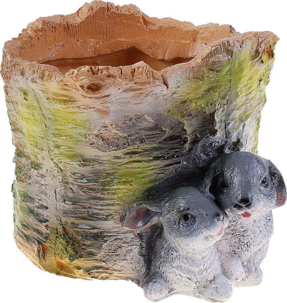 Кашпо Зайцы на березе, 18 х 18 х 15 см628377Комнатные растения — всеобщие любимцы. Они радуют глаз, насыщают помещение кислородом и украшают пространство. Каждому из растений необходим свой удобный и красивый дом. Поселите зелёного питомца в яркое и оригинальное фигурное кашпо. Выберите подходящую форму для детской, спальни, гостиной, балкона, офиса или террасы. #name# позаботится о растении, украсит окружающее пространство и подчеркнёт его оригинальный стиль.