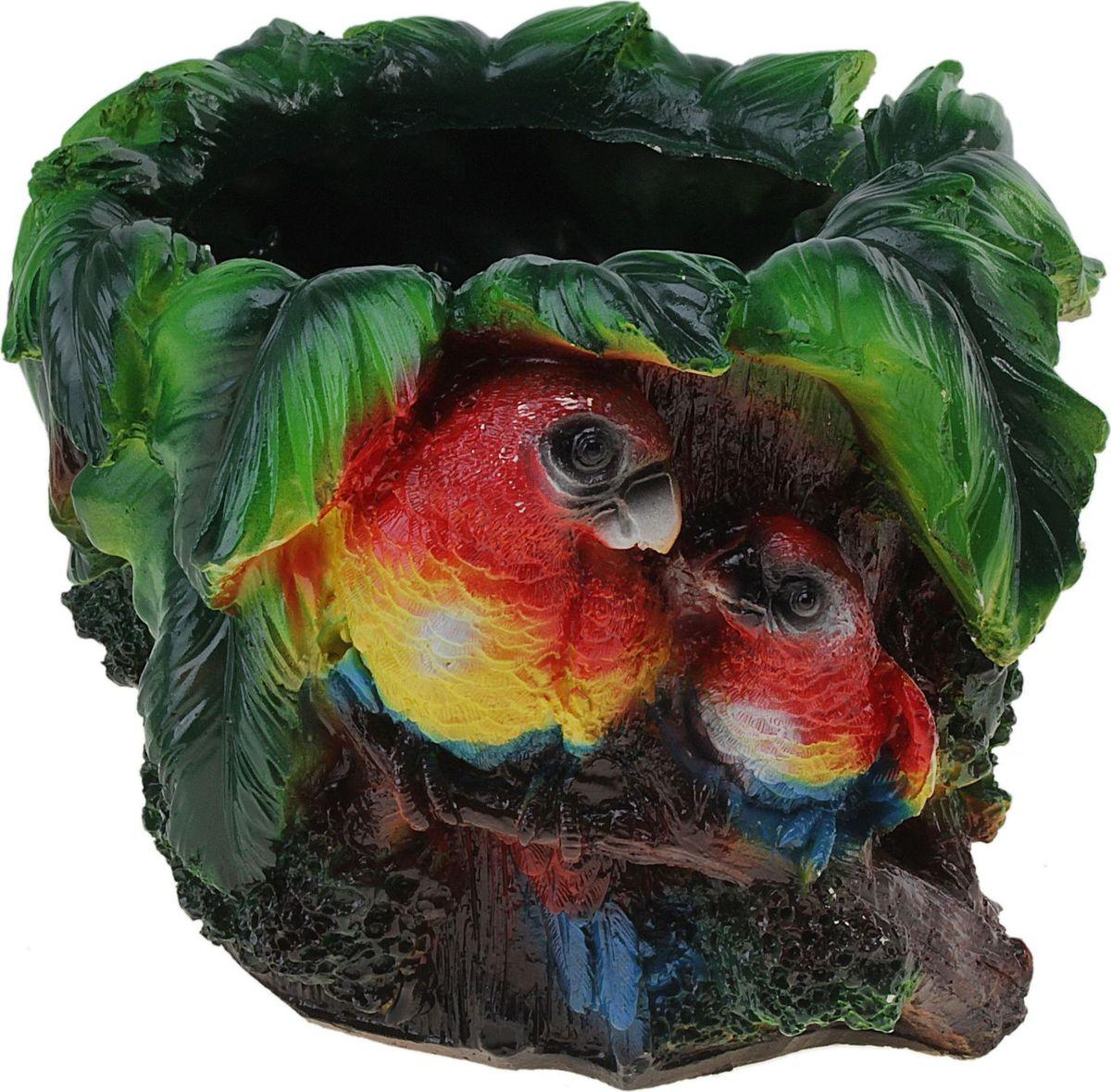Кашпо Попугай, 21 х 21 х 17 см628383Комнатные растения — всеобщие любимцы. Они радуют глаз, насыщают помещение кислородом и украшают пространство. Каждому из растений необходим свой удобный и красивый дом. Поселите зеленого питомца в яркое и оригинальное фигурное кашпо. Выберите подходящую форму для детской, спальни, гостиной, балкона, офиса или террасы. позаботится о растении, украсит окружающее пространство и подчеркнет его оригинальный стиль.