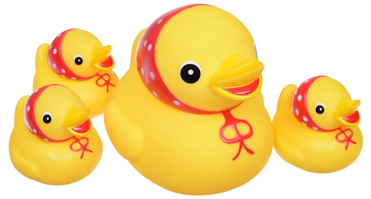 Курносики Набор игрушек для ванной Семейка уточки 4 шт lubby набор игрушек для ванной морской мир 4 шт