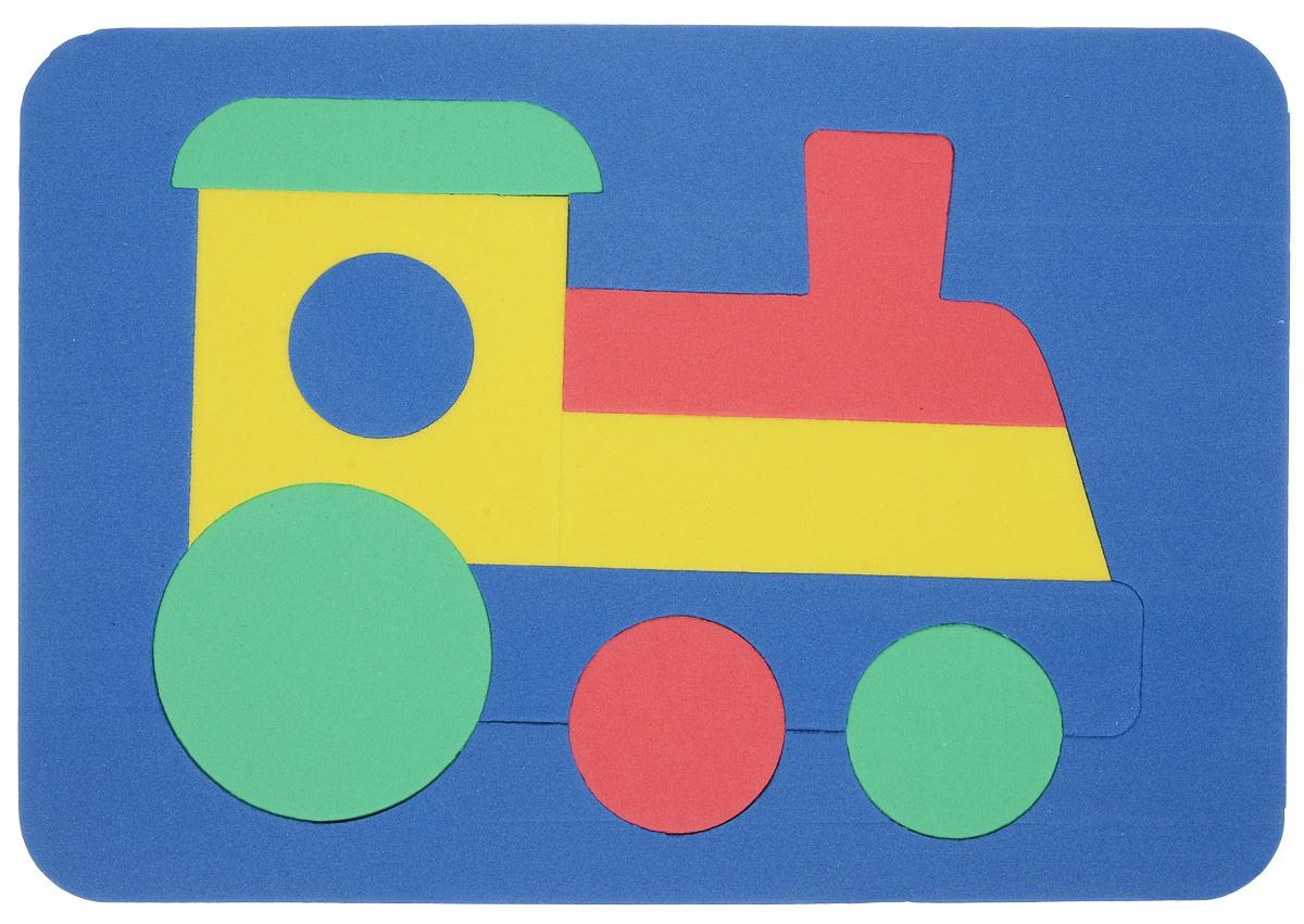Бомик Пазл для малышей Паровоз цвет основы синий бомик пазл для малышей собака