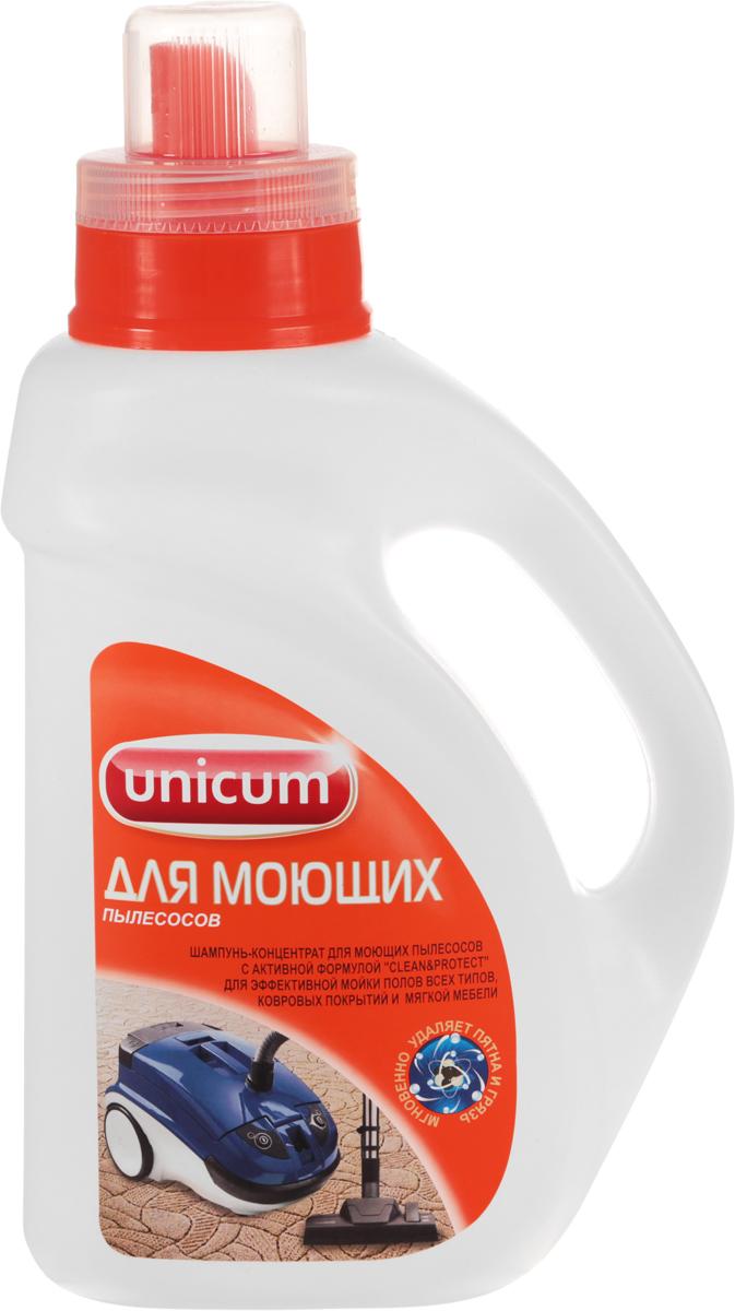 """Современный концентрированный шампунь """"Unicum"""" предназначен для комплексной чистки   ковров, ковровых покрытий, обивки мягкой мебели и автомобилей. Подходит для всех типов   моющих пылесосов, легко удаляет повседневные загрязнения, нейтрализует неприятные запахи,   восстанавливает яркость красок.Состав: очищенная вода, 15-30% ПАВ, менее 5% нейтрализатор запаха, менее 5% усилитель   яркости красок, менее 5% активные добавки, менее 5% гипоаллергенная ароматическая   композиция, менее 5% краситель, менее 5% консервант.Товар сертифицирован.  Уважаемые клиенты!Обращаем ваше внимание на возможные изменения в дизайне упаковки. Качественные характеристики товара остаются неизменными. Поставка осуществляется в зависимости от наличия на складе.    Как выбрать качественную бытовую химию, безопасную для природы и людей. Статья OZON Гид"""