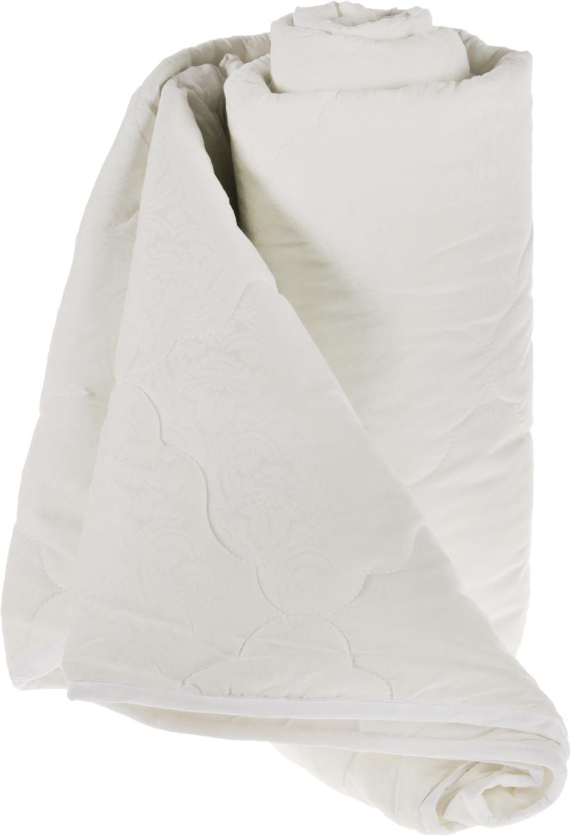 """Одеяло """"ЭГО"""" подарит уютный и комфортный сон. Чехол одеяла выполнен из полиэстера с красивым узором.  Внутри - слой наполнителя экофайбер.  Экофайбер - это полое силиконизированное волокно, аналог холлофайбера. Главными преимуществами такого  наполнителя являются его экологическая чистота и высокая теплозащита, более того он гипоаллергенен, не  впитывает пыль и запахи.  Одеяло с наполнителем экофайбер придется по душе людям, ценящим красоту и комфорт. Оригинальная стежка  равномерно распределяет наполнитель в чехле. Простое в уходе одеяло легко стирается в бытовой стиральной  машине и быстро высыхает. Ваше одеяло прослужит долго, а его изысканный внешний вид будет годами дарить вам  уют."""