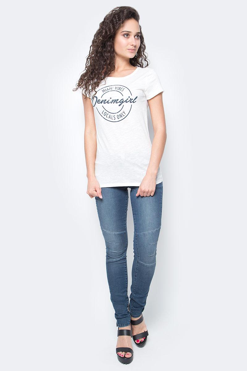 Футболка женская Tom Tailor, цвет: белый. 1037984.00.71_8005. Размер XS (42) футболка женская tom tailor цвет белый 1055030 00 71 8587 размер s 44