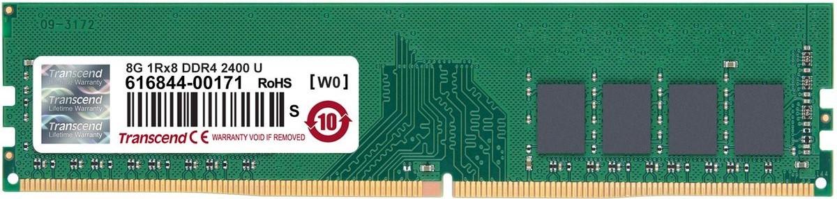Transcend JetRam DDR4 8GB 2400МГц модуль оперативной памяти (JM2400HLB-8G)JM2400HLB-8GМодули памяти Transcend JetRam производятся на базе фирменных микросхем DRAM класса ETT, которые проходят тщательный отбор и тестирование в различных условиях эксплуатации. Эти модули отличаются прекрасной совместимостью и подтвержденной испытаниями надежностью, что делает их идеальным и недорогим решением для обновления ПК. Каждый модуль соответствует рейтингу 2400 МГц, обеспечивая скорость передачи данных до 19 ГБ/с. Модули Transcend JetRam DDR4 работают при напряжении 1,2 В, что позволяет не только уменьшить уровень нагрева, но также снизить электрическую нагрузку на контроллере памяти, а следовательно, и до 40 % сократить расход электроэнергии, по сравнению со стандартными 1,5 В модулями DDR3.