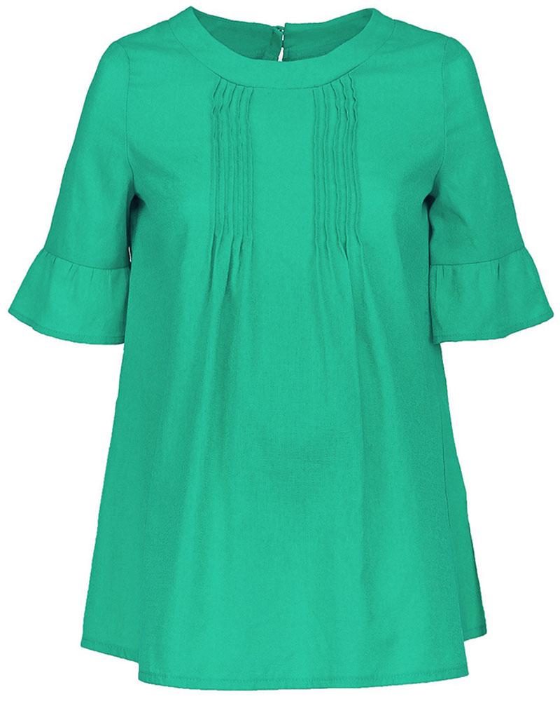 Блузка для беременных и кормящих Mammy Size, цвет: зеленый. 102339. Размер 50102339Блузка для беременных и кормящих Mammy Size выполнена из натурального хлопка. Модель с короткими рукавами на спинке застегивается на пуговицы. Благодаря свободному крою позволяет коже чувствовать себя комфортно даже в самый жаркий день.
