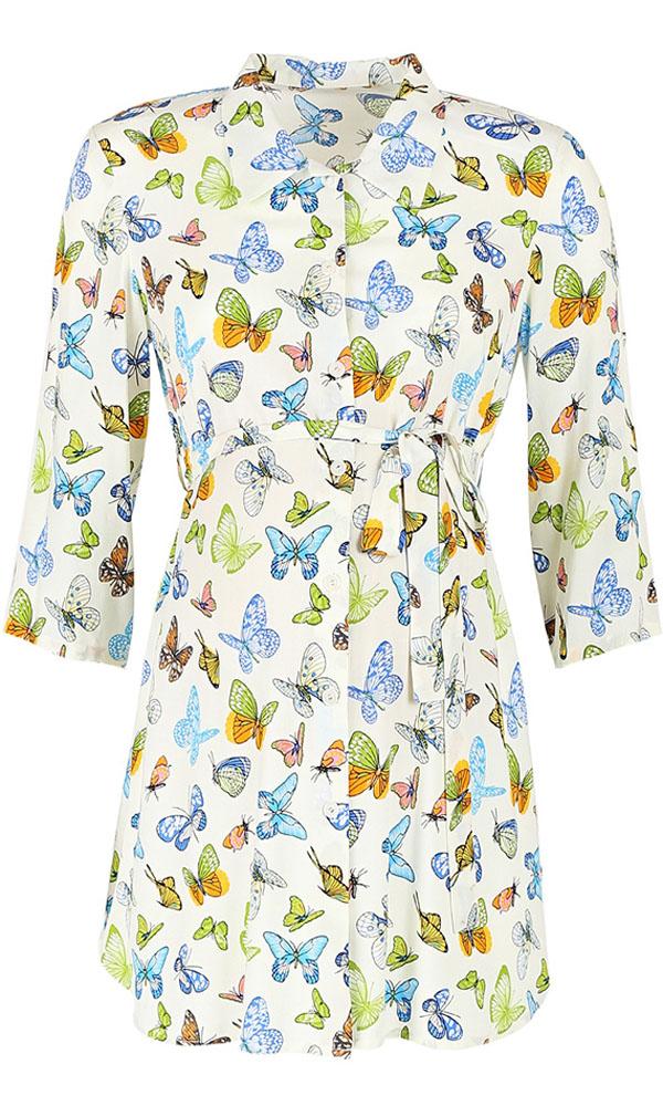 Блузка для беременных и кормящих Mammy Size, цвет: молочный. 118741. Размер 50