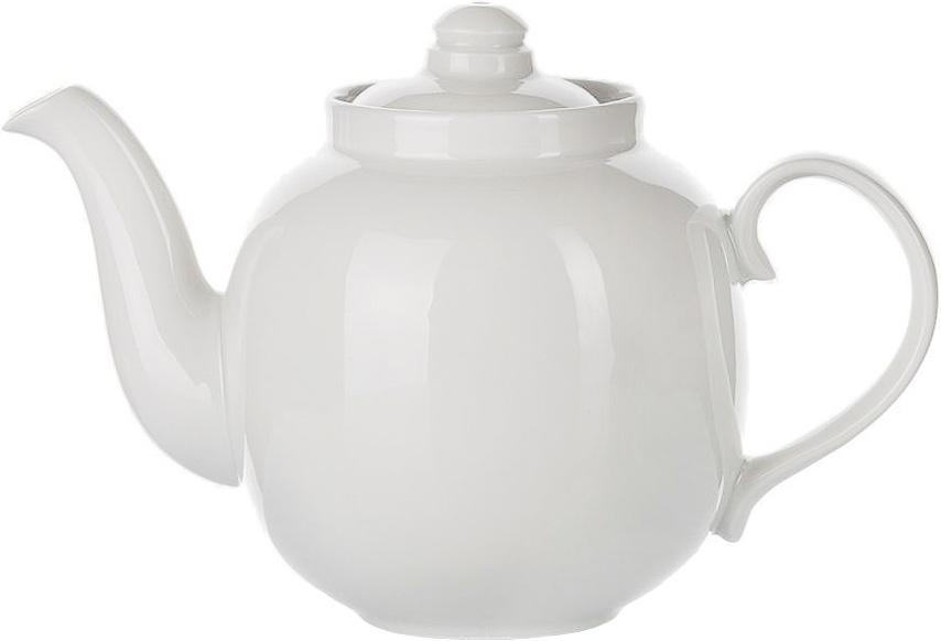 Чайник заварочный Дулевский Фарфор Янтарь. Белый, 1,4 л003702Заварочный чайник Дулевский Фарфор выполнен из высококачественного фарфора, покрытого глазурью. Изделие прекрасно подходит для заваривания вкусного и ароматного чая, травяных настоев. Оригинальный дизайн сделает чайник настоящим украшением стола. Он удобен в использовании и понравится каждому.