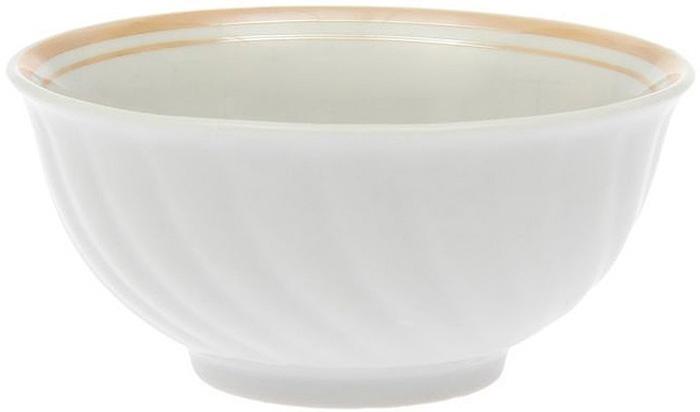 Салатник Дулевский Фарфор Отводка люстром, 400 мл003982Салатник Дулевский Фарфор выполнен из высококачественного фарфора, покрытого глазурью. Такой салатник отлично подойдет для подачи салатов, закусок, нарезок. Он красиво дополнит сервировку стола и станет полезным приобретением для кухни.