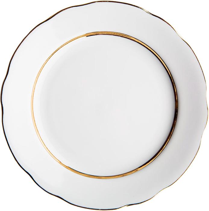Тарелка мелкая Дулевский Фарфор Монреаль, диаметр 20 см тарелка мелкая симплисити вайт слимлайн фарфор d 25 5см белый