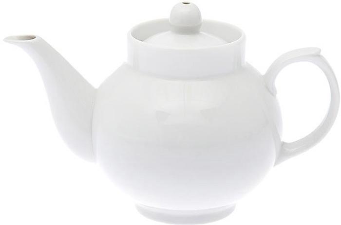 Чайник заварочный Дулевский Фарфор Рубин. Белый, 700 мл кружка дулевский фарфор рассвет белая 250 мл