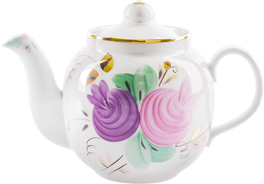 Чайник заварочный Дулевский Фарфор Янтарь. Агаша, 700 мл024322Заварочный чайник Дулевский Фарфор выполнен из высококачественного фарфора, покрытого глазурью. Изделие прекрасно подходит для заваривания вкусного и ароматного чая, травяных настоев. Оригинальный дизайн сделает чайник настоящим украшением стола. Он удобен в использовании и понравится каждому.