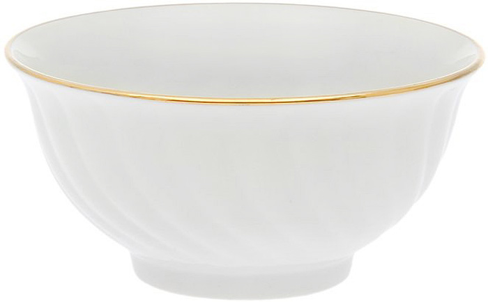 Салатник Дулевский Фарфор Отводка золотом, 700 мл028882Салатник Дулевский Фарфор Отводка золотом выполнен из высококачественного фарфора, покрытого глазурью. Такой салатник отлично подойдет для подачи салатов, закусок, нарезок. Он красиво дополнит сервировку стола и станет полезным приобретением для кухни.
