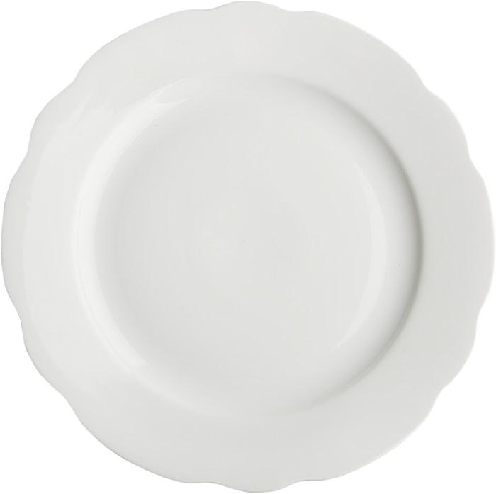 Блюдо круглое Дулевский Фарфор Белое, 300 мл