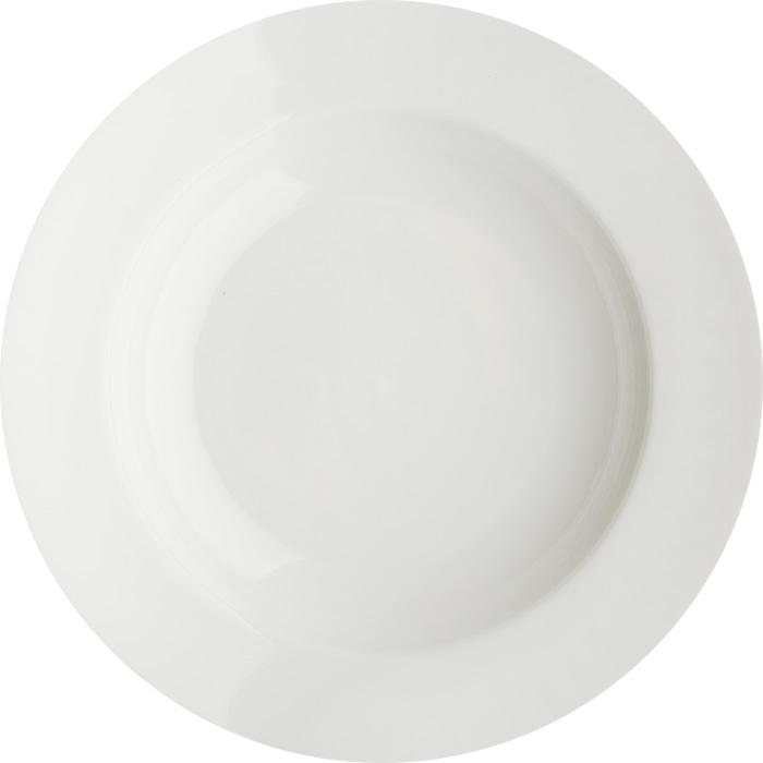 Тарелка глубокая Дулевский фарфор Белая, диаметр 24 см036172Глубокая тарелка подходит для сервировки стола и подачи первых блюд. Изделие выполнено из фарфора в соответствии с ГОСТ, что говорит о высоком качестве.Тарелку можно мыть в посудомоечной машине.