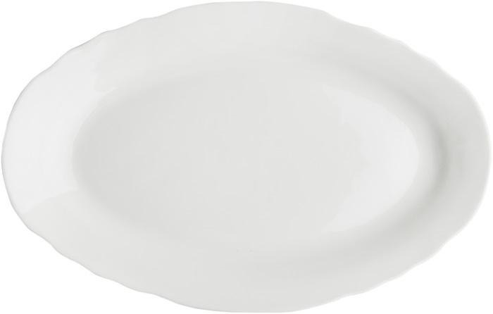 Блюдо овальное Дулевский Фарфор Белое, 350 мл кружка дулевский фарфор конус лилия 350 мл