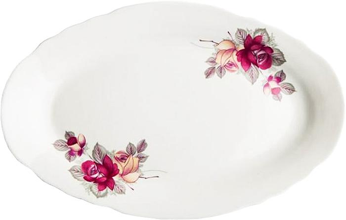 Блюдо овальное Дулевский Фарфор Дикая роза, 350 мл кружка дулевский фарфор конус лилия 350 мл