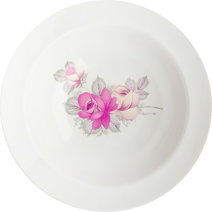 Миска Дулевский Фарфор выполнена из высококачественного фарфора, покрытого глазурью.  Изделие дополнено красочным рисунком. Такая миска пригодится на любой кухне. В ней можно  сервировать различные блюда или использовать как суповую тарелку.