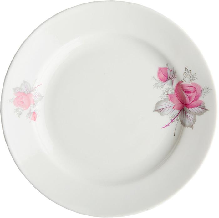 Тарелка мелкая Дулевский Фарфор Дикая роза, диаметр 20 см049192Мелкая тарелка Дикая роза выполнена из высококачественного фарфора и украшена ярким рисунком. Она прекрасно впишется в интерьер вашей кухни и станет достойным дополнением к кухонному инвентарю. Тарелка Дикая роза подчеркнет прекрасный вкус хозяйки и станет отличным подарком.
