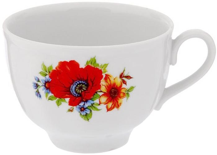"""Фарфоровая посуда считается классикой, ведь никакое время для нее не властно. Впервые появившись в Китае, фарфор присутствовал в домах богатых людей и являлся драгоценным подарком для любого европейца. Фарфор ценили на вес золота, и это неудивительно, ведь его качество и необыкновенные свойства славились на весь мир.Так, например, чайники из фарфора - это настоящая находка для ценителей чайной ароматной церемонии. Благодаря своим свойствам, фарфор способен удерживать тепло напитка продолжительное время.Чашка """"Гранатовый. Полевой мак"""" имеет довольно простой рисунок на белоснежном фарфоре, который несомненно, привлечет Ваше внимание. Фарфор производства """"Дулевский Фарфор"""" имеет высокую термическую и механическую стойкость, благородный внешний вид.Чашка чайная Дулевский Фарфор """"Гранатовый. Полевой мак"""" станет прекрасным украшением сервировочного стола. Чай из такого изделия будет невероятно ароматным и вкусным."""