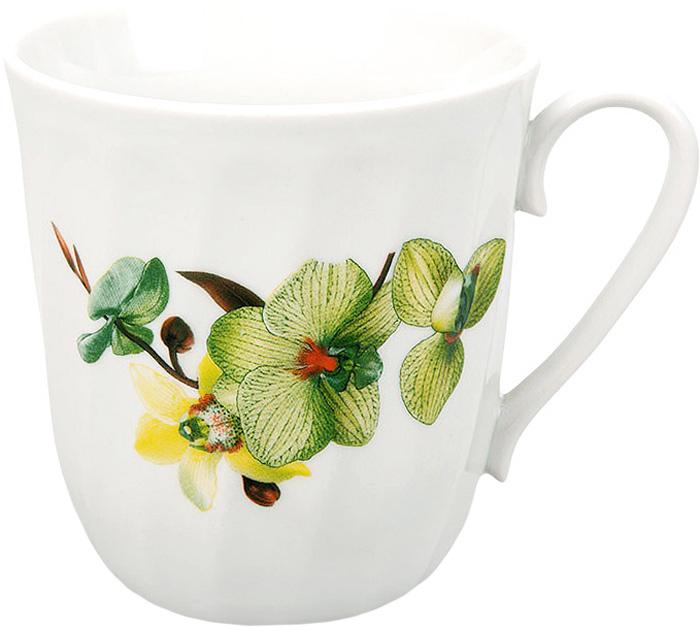 Кружка Дулевский Фарфор Витая. Орхидея зеленая , 350 мл кружка дулевский фарфор конус лилия 350 мл