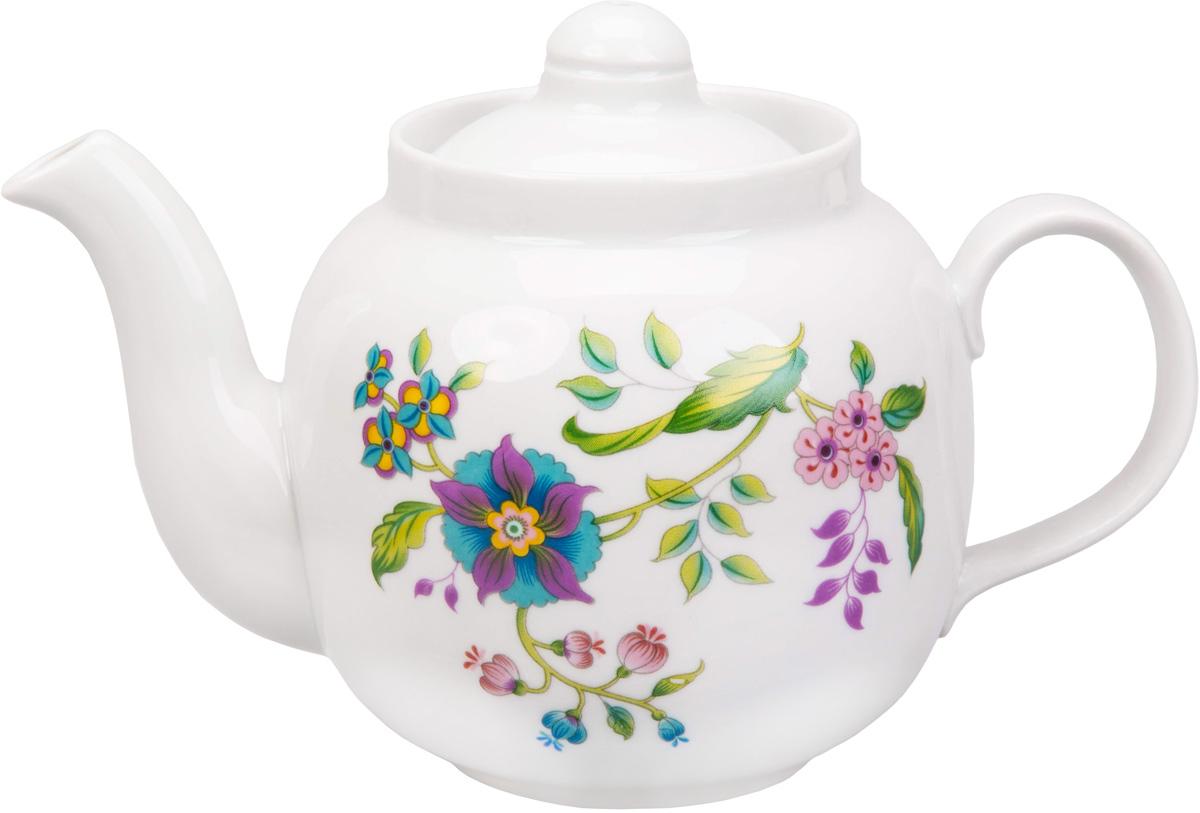 Чайник заварочный Дулевский Фарфор Янтарь. Луговые цветы, 700 мл047562Заварочный чайник Дулевский Фарфор выполнен из высококачественного фарфора, покрытого глазурью. Изделие прекрасно подходит для заваривания вкусного и ароматного чая, травяных настоев. Оригинальный дизайн сделает чайник настоящим украшением стола. Он удобен в использовании и понравится каждому.