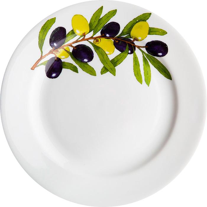 Тарелка мелкая Дулевский Фарфор Оливки, диаметр 17,5 см тарелка мелкая идиллия восточный диаметр 20 см