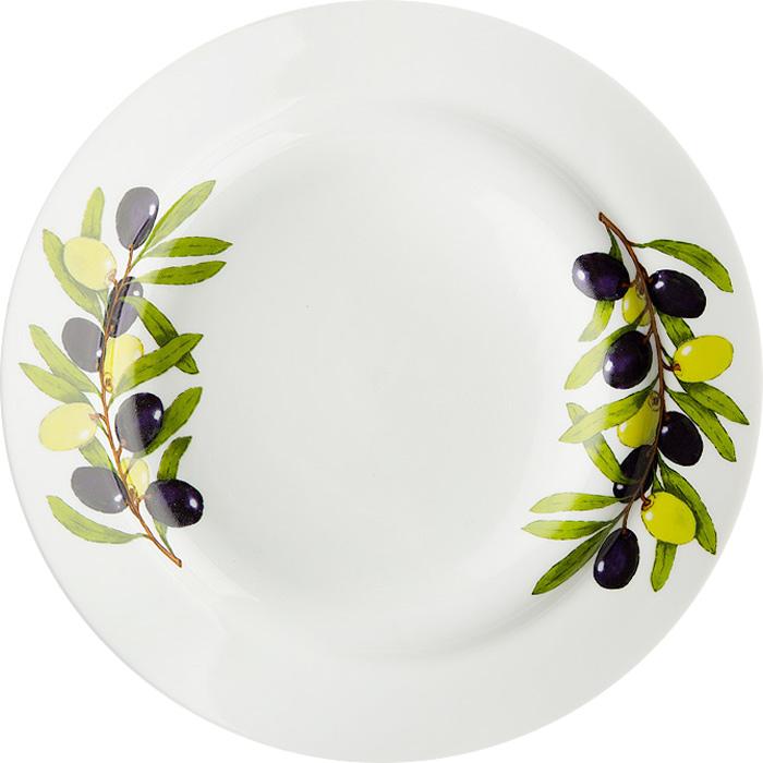 Тарелка мелкая Дулевский Фарфор Оливки, диаметр 24 см068802Тарелка Дулевский Фарфор выполнена из высококачественного фарфора, покрытого глазурью. Изделие дополнено красочным рисунком. Тарелку можно использовать для сервировки различных блюд.