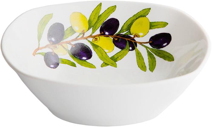 Салатник Дулевский Фарфор Оливки, 550 мл068852Салатник Дулевский Фарфор выполнен из высококачественного фарфора, покрытого глазурью. Такой салатник отлично подойдет для подачи салатов, закусок, нарезок. Он красиво дополнит сервировку стола и станет полезным приобретением для кухни.