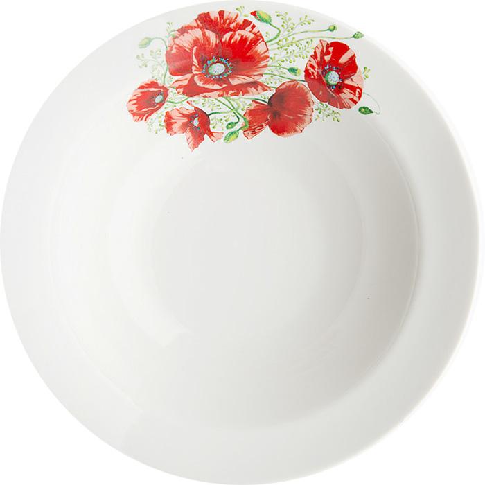 Миска Дулевский Фарфор Маки, 500 мл069622Миска Дулевский Фарфор Маки выполнена из высококачественного фарфора, покрытого глазурью. Изделие дополнено красочным цветочным рисунком. Такая миска пригодится на любой кухне. В ней можно сервировать различные блюда или использовать как суповую тарелку.