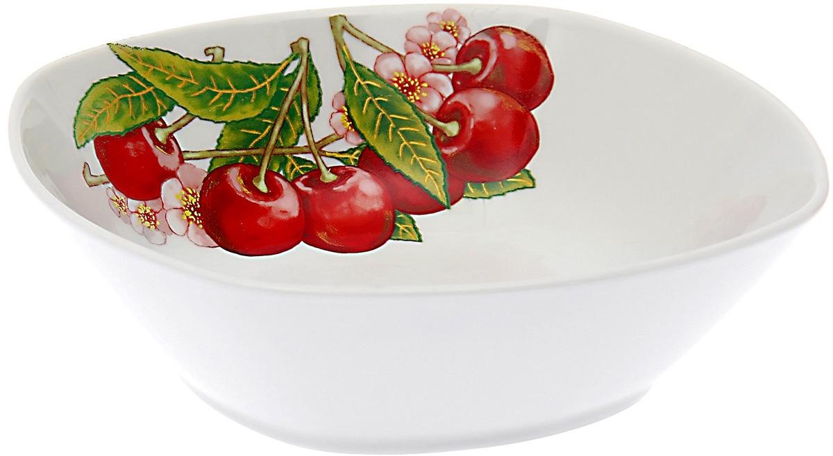 Салатник Дулевский Фарфор Вишня, 550 мл070022Салатник Дулевский Фарфор выполнен из высококачественного фарфора, покрытого глазурью. Такой салатник отлично подойдет для подачи салатов, закусок, нарезок. Он красиво дополнит сервировку стола и станет полезным приобретением для кухни.