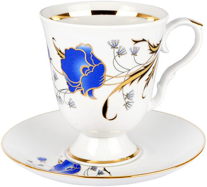 Кружка Дулевский Фарфор Синий мак, с блюдцем, 500 млс1055Кружка Дулевский фарфор Синий мак способна скрасить любое чаепитие. Изделие выполнено из высококачественного фарфора. Посуда из такого материала позволяет сохранить истинный вкус напитка, а также помогает ему дольше оставаться теплым. Кружка оснащена удобной ручкой.