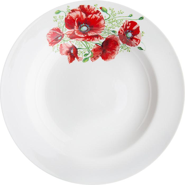 Тарелка глубокая Дулевский фарфор Маки, диаметр 20 см069482Тарелка глубокая, с гладким краем , классической формы.Глубокая тарелка подходит для сервировки стола и подачи первых блюд.Изделие выполнено из фарфора в соответствии с ГОСТ, что говорит о высоком качестве. Тарелку можно мыть в посудомоечной машине.