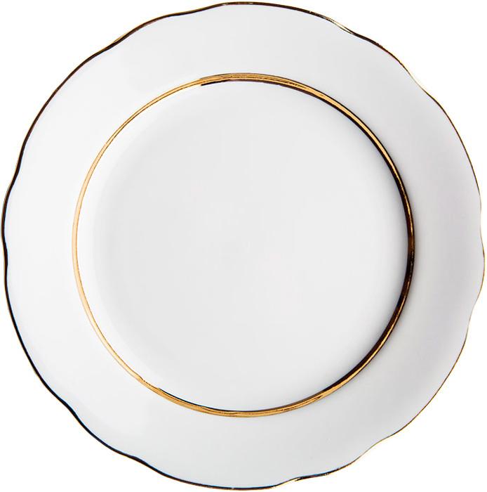Тарелка глубокая Дулевский Фарфор Монреаль, диаметр 24 см021472Глубокая тарелка подходит для сервировки стола и подачи первых блюд. Изделие выполнено из фарфора в соответствии с ГОСТ, что говорит о высоком качестве.Тарелку можно мыть в посудомоечной машине.