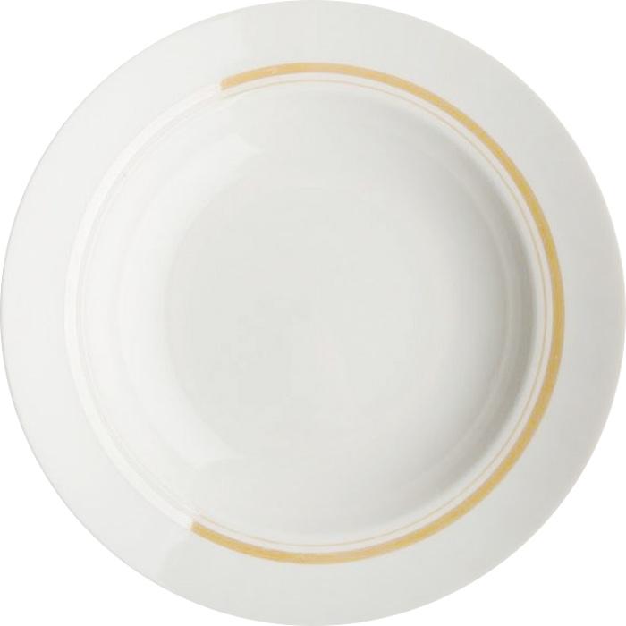 Тарелка глубокая Дулевский Фарфор Отводка люстром, диаметр 24 см034392Глубокая тарелка подходит для сервировки стола и подачи первых блюд. Изделие выполнено из фарфора в соответствии с ГОСТ, что говорит о высоком качестве.Тарелку можно мыть в посудомоечной машине.