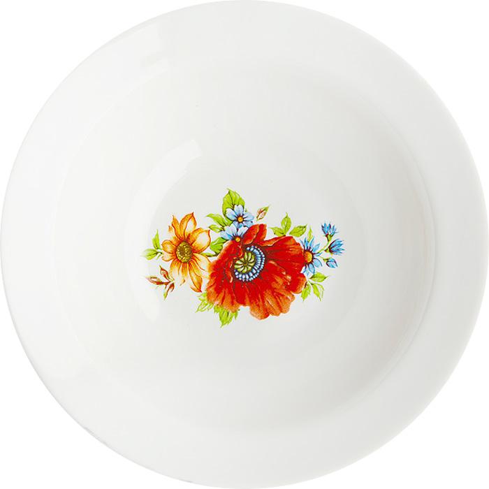 Миска Дулевский Фарфор Полевой мак, 300 мл046992Миска Дулевский Фарфор выполнена из высококачественного фарфора, покрытого глазурью.Изделие дополнено красочным рисунком. Такая миска пригодится на любой кухне. В ней можносервировать различные блюда или использовать как суповую тарелку.