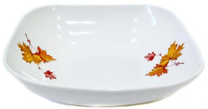Салатник Дулевский Фарфор Клен , 1,04 л068012Салатник Дулевский Фарфор выполнен из высококачественного фарфора, покрытого глазурью. Такой салатник отлично подойдет для подачи салатов, закусок, нарезок. Он красиво дополнит сервировку стола и станет полезным приобретением для кухни.