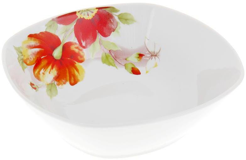 Салатник Дулевский Фарфор Альпийские цветы, квадратный, 300 мл070262Квадратный салатник Дулевский Фарфор выполнен из высококачественного фарфора, покрытого глазурью. Такой салатник отлично подойдет для подачи салатов, закусок, нарезок. Он красиво дополнит сервировку стола и станет полезным приобретением для кухни.