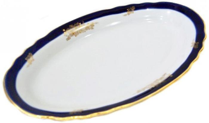 Блюдо овальное Дулевский Фарфор Ягоды, 350 мл кружка дулевский фарфор конус лилия 350 мл