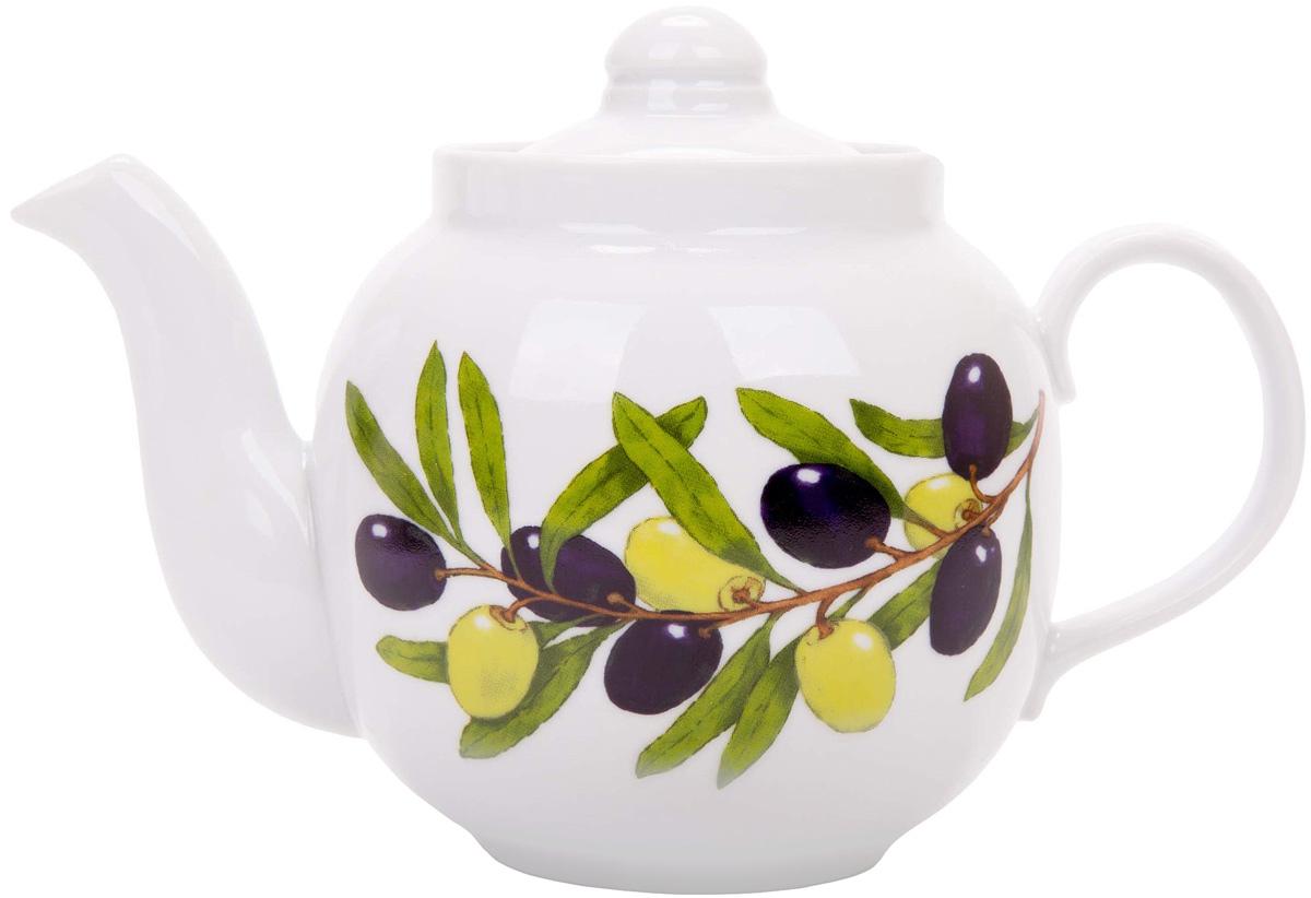 Чайник заварочный Дулевский Фарфор Янтарь. Оливки, 700 мл068972Заварочный чайник Дулевский Фарфор выполнен из высококачественного фарфора, покрытого глазурью. Изделие прекрасно подходит для заваривания вкусного и ароматного чая, травяных настоев. Оригинальный дизайн сделает чайник настоящим украшением стола. Он удобен в использовании и понравится каждому.