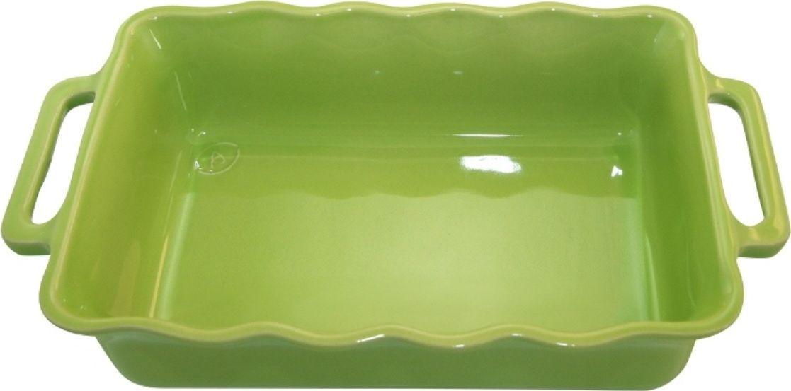 Форма для выпечки Appolia Delices, прямоугольная, цвет: лаймовый, 2,6 л141034027Благодаря большому разнообразию изящных форм и широкой цветовой гамме, коллекция DELICES предлагает всевозможные варианты приготовления блюд для себя и гостей. Выбирайте цвета в соответствии с вашими желаниями и вашей кухне. Закругленные углы облегчают чистку. Легко использовать. Большие удобные ручки. Прочная жароустойчивая керамика экологична и изготавливается из высококачественной глины. Прочная глазурь устойчива к растрескиванию и сколам, не содержит свинца и кадмия. Глина обеспечивает медленный и равномерный нагрев, деликатное приготовление с сохранением всех питательных веществ и витаминов, а та же долго сохраняет тепло, что удобно при сервировке горячих блюд.