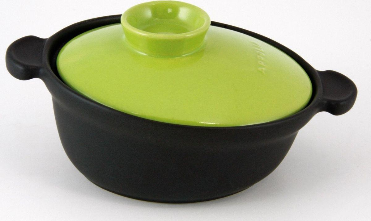 Кастрюля Appolia  Terre&Flamme , керамическая, цвет крышки: лаймовый, 2,2 л - Посуда для приготовления